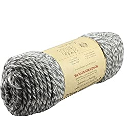 Image: Celine lin One Skein 100% Wool Thick Hand Knitting Yarn | 100% Pure virgin wool containing natural oils