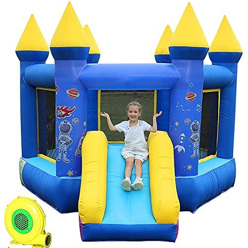 FYHpet Casa Inflable de Rebote con el Castillo Inflable del soplador de Aire con la Diapositiva de Salto, Diapositivas inflables de la casa de Juegos de la bocina para los niños