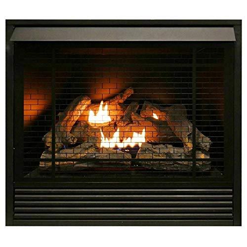 Ventless Gas Fireplace Insert Duel Fuel - 32K...