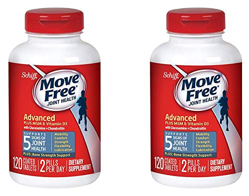 Move Free Advanced Plus MSM and Vitamin D3 Joint Health Supplement with Glucosamine and Chondroitin...