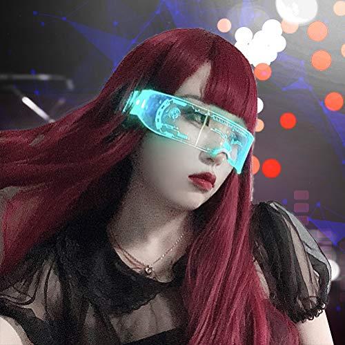 KENANLAN Leuchtend Brille LED, Halloween Bunte LED-Brille leuchtende Brille leuchten Brillen Weihnachten Halloween verrückte Party Bar Tanz Kostüm Requisiten