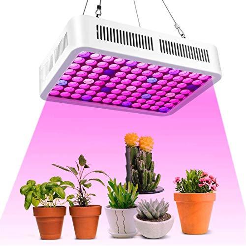 600W LED Pflanzenlampe,Roleadro Led Grow Lampe Full Spectrum Wachsen Licht Wachstumslampe Pflanzenlicht für Zimmerpflanzen Gemüse und Blumen