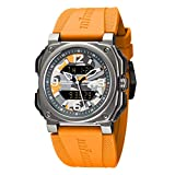 Infantry Mens Military Watches for Men Tactical Wrist Watch Waterproof Digital Wristwatch Outdoor Fashion Big Face Orange Camo Rubber Band by Revolution