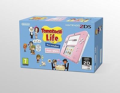 Nintendo 2DS - Consola, Color Rosa + Tomodachi Life (Preinstalado)