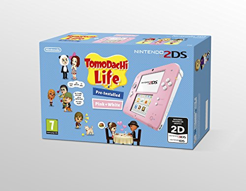 Nintendo 2DS - Consola, Color Rosa + Tomodachi Life (Preinst