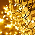 Upgraded 66FT 200 LED Christmas Tree String Lights ( Much Brighter, 8 Lighting Modes, Extendable Green Wire, UL Safe Certified ), Xmas Wedding Party Decoration Outdoor Fairy Lights, Warm White