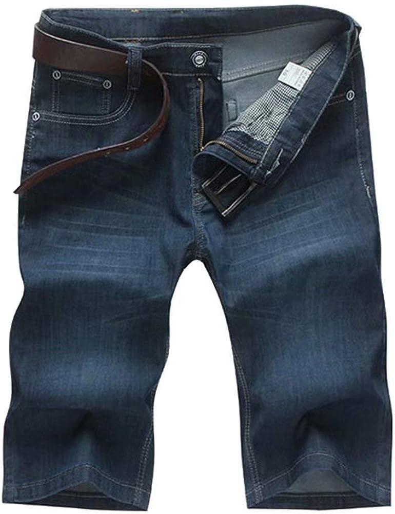 Wxian Men's Casual Stretch Denim Shorts 29-50