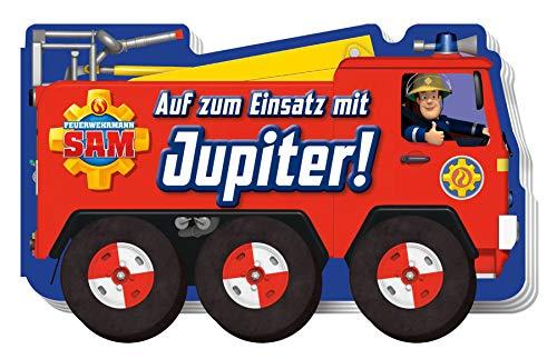 Feuerwehrmann Sam: Auf zum Einsatz mit Jupiter!: Pappbilderbuch mit beweglichen Papprädern