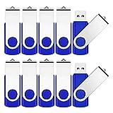 Memoria USB de 4 GB, 10 unidades, USB 2.0, unidad flash Pen Drive Thumb Drive Data, almace...