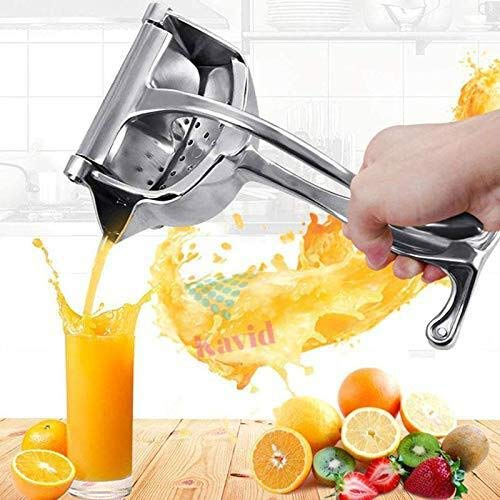 SWARG Stainless Steel Manual Juicer Alloy Fruit Hand Squeezer Heavy Duty Lemon Orange Juicer Manual Fruit Press Squeezer Fruit Juicer Extractor Tool 1 Pack Assorted