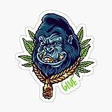 Gorilla Glue Weed Strain 420 Stoner Smoking Dank Bud Cannabis Sticker - Sticker Graphic - Auto, Wall, Laptop, Cell, Truck Sticker for Windows, Cars, Trucks