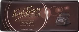 Karl Fazer Blue Original Finnish Dark Chocolate 47% Cocoa Bar
