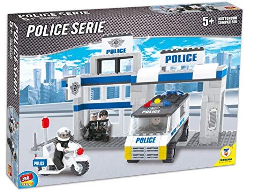 Teorema 64780 - Set Costruzioni Click Clack Mattoncini Compatibili Stazione Polizia