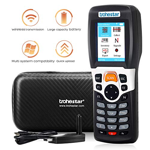 Trohestar Nuberopa N4 PDA Wireless Barcode Scanner 1D 2.4G Portable Inventory Scanner Barcode Data Collector barcode scanner TroheStar
