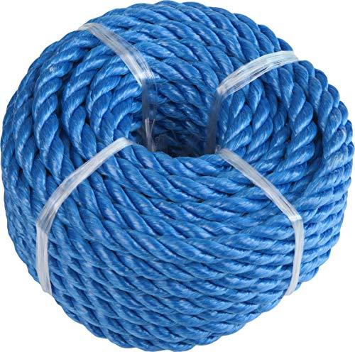 Windhager PP Polypropylen, Outdoor-Seil, Reepseil, Gartenseil, Allzweckseil, Strick, Festmacherleine, gedreht, 8mm x 10m, blau, 05758