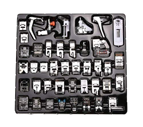 For Sale! 42pcs Professional Sewing Machine Presser Feet Set,Multifunction Domestic Presser Foot Spa...