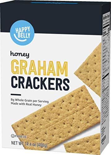 Amazon Brand - Happy Belly Honey Graham Crackers, 14.4 Ounce