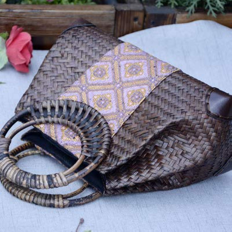 MU.RTY Thailand Style Women Handmade Ladies Travel Handbags Weave Straw Beach Shoulder Bag Knitting Rattan Bags