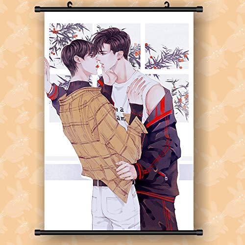 Henanyimeixiang Animación periférica camuflaje escuela escoria He Chao Xie Yu pergamino colgante pintura arte tela soporte personalizado dibujos 40 * 60cm05