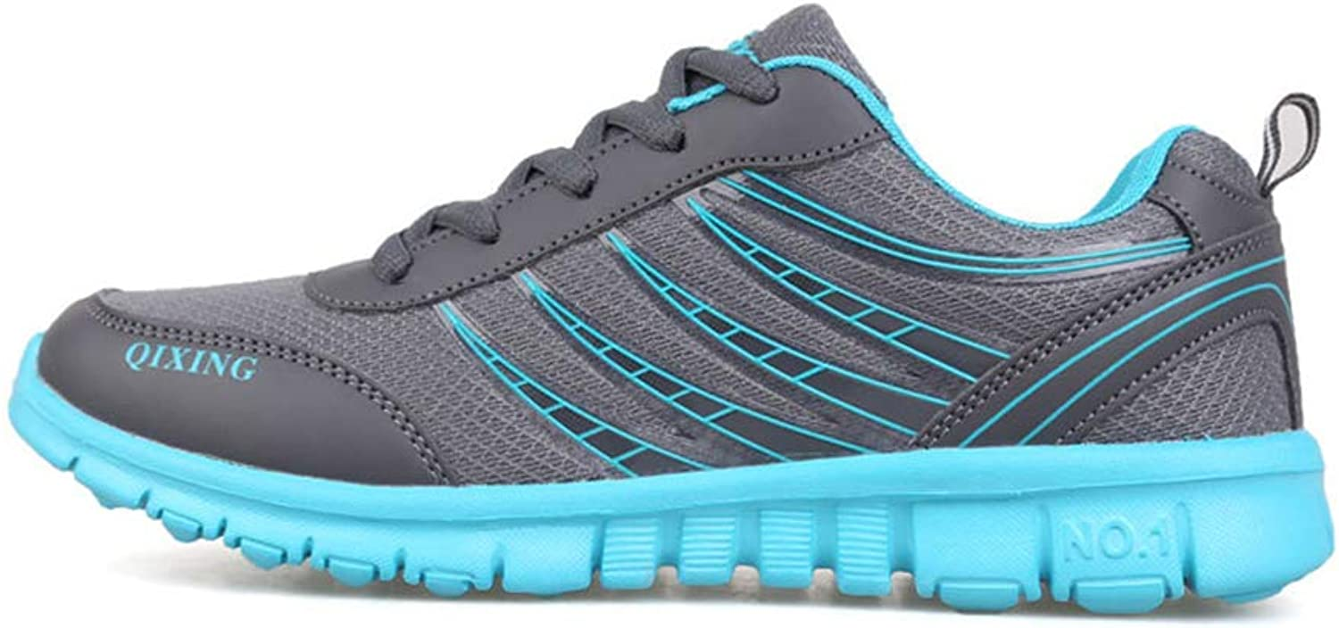 Women's Sports shoes, Mesh Breathable Sweat Lightweight Fitness Running shoes, Fashion Low Help Non-slip Sneakers, Runway, Natural Grassland, Floor, Highway,Green,39