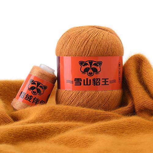 Hilo de hilo de 50 g + 20 g de cachemira, hilo antibolitas, hilo para tejer a mano para ropa cárdigan