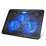 TECKNET Laptop Cooling Pad, Portable Slim Quiet USB Powered Laptop Notebook Cooler...