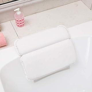 KUNXIAOY PU Foam Sponge Bath Pillow, Bathroom Head Sucker Pillows for Hot Tub Jacuzzi Home Spa Bathtub Pillow Cushion