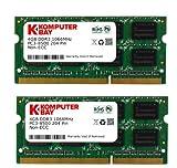 Komputerbay - Módulos de memoria SO-DIMM para Apple (2 x 4 GB, DDR3, 204 pines, 1066 Mhz, PC3 8500, semiconductores Hynix)