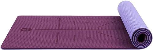 FS Tapis de Yoga, Tapis de Yoga élargi et épaississant allongeant pour Tapis de Fitness pour débutants et débutants Stretch Tapis de Yoga antidérapant 183 × 63 cm, épaisseur 6 mm