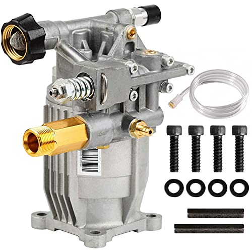 Product Image of the YAMATIC Max 3000 PSI Pressure Washer Pump Horizontal 3/4'' Shaft 2.4 GPM Power Washer Pump Replacement For Honda GC190, GC160, 309515003,308418007, G3050OHC, 020241 and More
