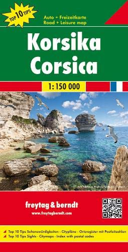 F&B Corsica: Toeristische Wegenkaart 1:150 000