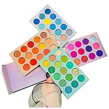 60 Colors Eyeshadow Palette 4 in1 Color Board Makeup Palette Set Highly Pigmented Glitter Metallic Matte Shimmer Natural Ultra Eye Shadow Powder Easy to Blend