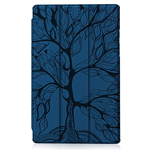 ONETHEFUL Flip Book Cover for Apple iPad 9.7' 2017 2018 / iPad Air 2013 / iPad Air 2 2014 Case Slim Trifold Faux Leather Stand Protective Tablet Covers - Sapphire