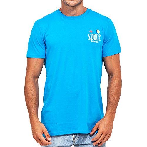 Space Ibiza: Camiseta hombre Beach Club Logo - Turquesa, L - Large