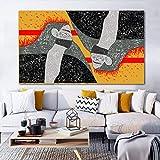 YuanMinglu Retrato Abstracto, Utilizado para lienzos para el hogar, Arte de la Pared, Carteles e Impresiones de decoración de la Sala, Pintura sin Marco de decoración del hogar 40x80cm