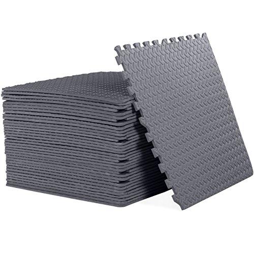 """CAP Barbell 1/2"""" Cap Puzzle Exercise Mat with EVA Foam Interlocking Tiles, 6 Pack, 144 Square'"""