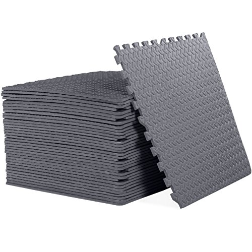 CAP Barbell 1/2' Cap Puzzle Exercise Mat with EVA Foam Interlocking Tiles, 6 Pack, 144 Square'