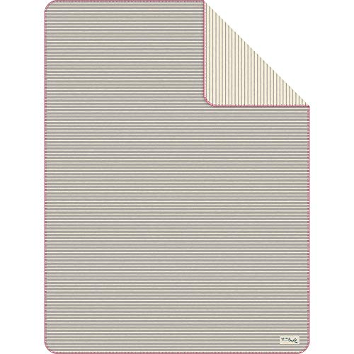 s.Oliver 1299 Kuscheldecke 150x200 cm - Wohndecke grau gestreift, kuschelig weich und angenehm warm, hochwertige Pflegeleichte Baumwollmischung