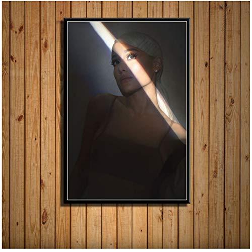 Ariana Grande Pop Music Star Sweetener Album Art Painting Canvas Poster Wall Home Decor Artwork-50x70cm Sin marco