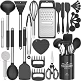 Fungun Kitchen Utensil Set - 27 Pcs Silicone Non-stick Cooking Utensils - Kitchen Utensils with...