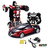 Gooyo 1:16 Scale RC Toys Radio Remote Controlled Rechargeable 1 Button Deformation Car
