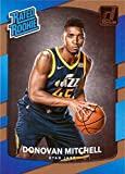 2017-18 Panini Donruss Basketball #188 Donovan Mitchell Rookie Card - Rated Rookie. rookie card picture