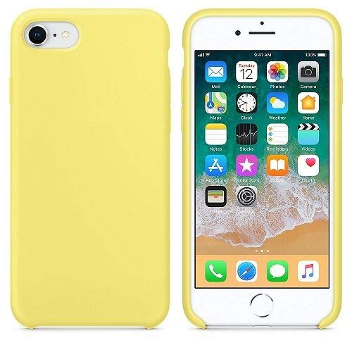 CABLEPELADO Funda Silicona iPhone 7/8 Textura Suave Color Amarillo