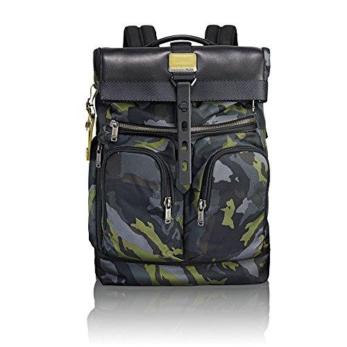 """Tumi Alpha Bravo - London Roll-Top Backpack 15"""" Zaino Casual, 48 cm, 24.1 liters, Multicolore (Green Camo)"""