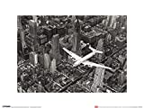 1art1 New York - Douglas DC-4 Flugzeug Über Manhattan