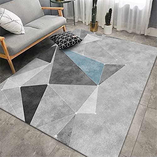 La alfombras recibidor Moderno alfombras Gris Azul Negro Simple diseño geométrico diseño Sala de Estar Antideslizante Alfombra alfombras Medida Alfombra habitacion Infantil 160*230cm
