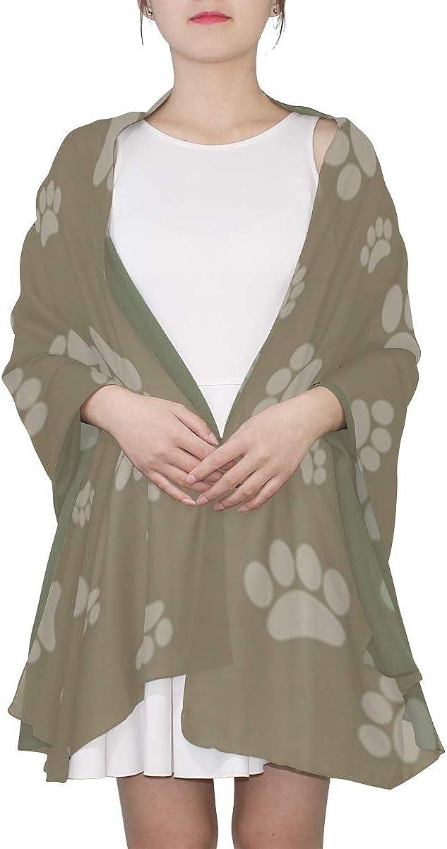Scarf Shawl For Women Cartoon Cute Colorful Pet Dog Claw Long Scarfs For Women Shawl Wraps For Women Lightweight Print Scarves Little Girls Scarfs Fashion Print Scarf