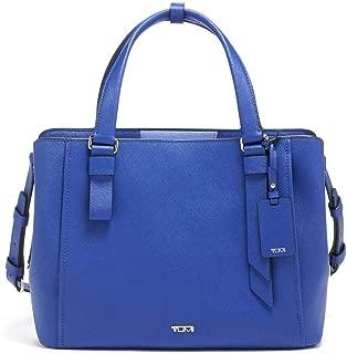 Varek Pearl Leather Laptop Tote - 12 Inch Computer Bag for Men and Women - Cobalt
