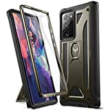 YOUMAKER Designed for Samsung Galaxy Note 20 Ultra 5G Case with Built-in Screen Protector & Kickstand Full Body Shockproof Rugged Protective Cover for Galaxy Note 20 Ultra 5G 6.9 inch - Gun