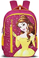 Priority Disney Princess Belle 40 litres Pink Polyester Kid's School Bag | Casual Backpack for Girl's